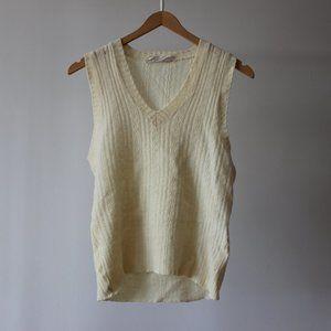 Vintage Wool Knit Sweater Vest